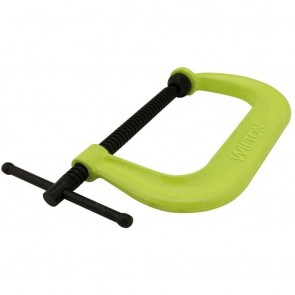 "Wilton 400 Series Hi-Vis Safety C-Clamp, 0 - 4-1/4"" Opening, 3-1/4"" Throat"