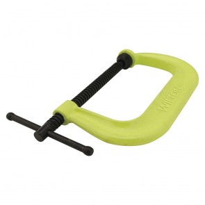 "Wilton 400 Series Hi-Vis Safety C-Clamp, 0 - 6-1/16"" Opening, 4-1/8"" Throat"