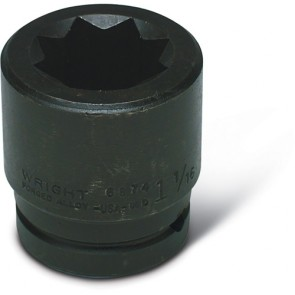 "Wright Tool 1-5/16"" - 3/4"" Drive 8-Point Double Square Impact Railroad Socket"